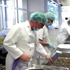 Watch: Michelin star chef Peter Fruehsammer cooks for hospitals in Germany