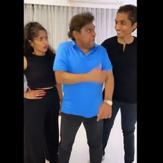 Watch: Johny Lever's #DontTouchMe challenge with his children is wildly popular on the internet
