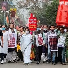 Mamata Banerjee leads march against LPG price rise, challenges PM for 'one-to-one' contest