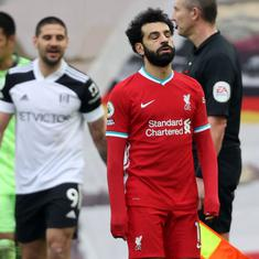 Premier League: Liverpool slip to sixth straight defeat at Anfield as Fulham boost survival hopes