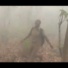 Watch: Forester Sneha Dhal dances in joy as the burning Similipal forest gets rain