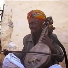 Watch: Rajasthani folk singer Dapu Khan has died. Here's one of his performances