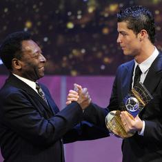 770 goals and counting: Pele congratulates hat-trick hero Ronaldo for breaking his record