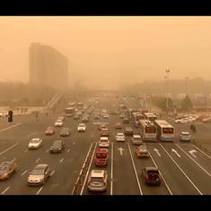 Watch: Beijing sees its worst sandstorm in 10 years, is covered in apocalyptic orange-brown haze