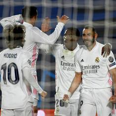 Champions League: Benzema, Ramos on target as Real Madrid beat Atalanta to reach quarter-finals