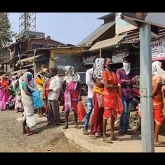 Watch: Long queue gathers outside bank in Palgarh district as it reopens after two-day strike