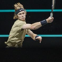 Dubai Tennis: Andrey Rublev rolls on to set up all-Russian semi-final with Aslan Karatsev