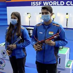 Watch: India's Manu Bhaker and Saurabh Chaudhary win gold in 10m Air Pistol mixed team event