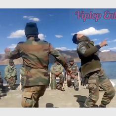 Watch: Indian Army soldiers dance beside Pangong Tso lake in Ladakh