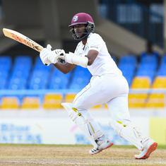 Second Test: Kraigg Brathwaite's unbeaten 99 takes West Indies to 287/7 against Sri Lanka on day one