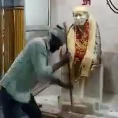 Sai Baba devotees in Delhi file complaint against demolition of idol in Shahpur Jat temple