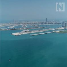 Watch: The 'world's highest infinity pool' is located 294 metres high on a Dubai hotel's 77th floor