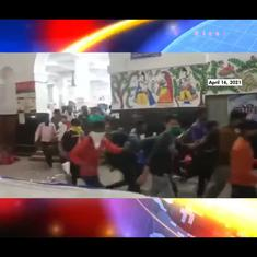 Watch: Rail passengers dash to the exit when asked to take Covid-19 tests at a Bihar station