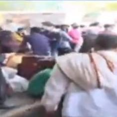 Watch: Migrants throng Lucknow bus station to go back to their hometowns after lockdowns elsewhere