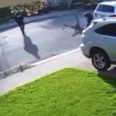 Watch: Armed theft doesn't go as planned after man threatened at gunpoint slams robber to the ground
