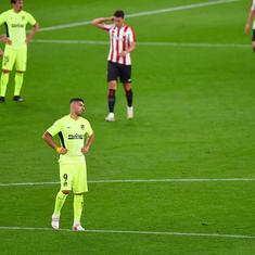 La Liga: Atletico Madrid lose to Bilbao, Barcelona beat Villareal as title race blown wide open