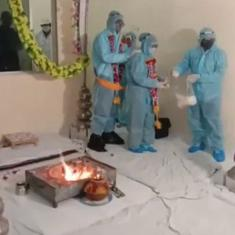 Watch: Covid-19 positive groom gets married in PPE kit, defying requests from state authorities