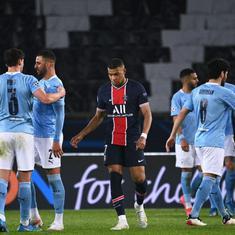 Champions League: Manchester City hold edge as Mahrez winner downs 10-man PSG in semi-final