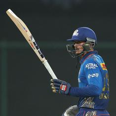 IPL 2021: De Kock fifty takes Mumbai Indians to easy win over Rajasthan Royals