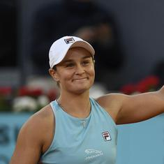 Madrid Open: Ashleigh Barty beats Iga Swiatek in battle of French Open champs to reach quarters
