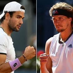 Madrid Open: Zverev downs Thiem, Berrettini beats Ruud to set up final