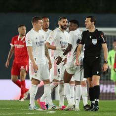 La Liga: Eden Hazard's last-gasp equaliser rescues Real Madrid against Sevilla in dramatic clash