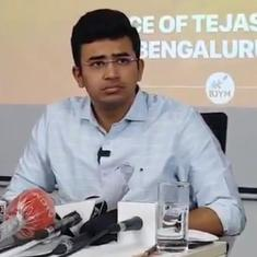 Watch: BJP's Tejasvi Surya fails to answer tough questions from journalists on Covid war room remark