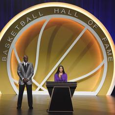Watch: Kobe Bryant inducted posthumously into Basketball Hall of Fame in emotional ceremony