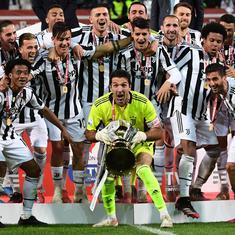 Juventus win Italian Cup to boost tough season as Buffon marked final match as goalkeeper