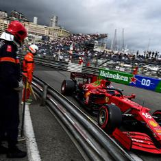 Monaco GP: Ferrari's Charles Leclerc finishes qualifying with a crash, earns pole position