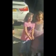 Caught on camera: Israeli police arrest 10-year-old Palestinian boy while his little sister cries