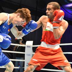 Asian Boxing C'ships: Amit Panghal, Vikas  Krishan advance to SF; Mary Kom and Co in action today