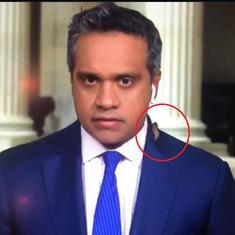 'Horrific incident': CNN reporter Manu Raju has a close encounter with a cicada – on live television