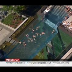 Watch: Transparent 'sky pool' floats between two skyscrapers 35 metres high