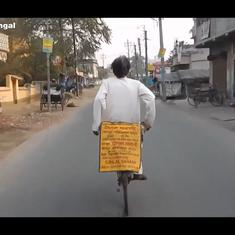 Watch: Meet fish-seller and musician Srilal Sahani who plays drums, cymbals while riding his bicycle