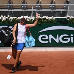 French Open, day 5 women's roundup: Top seed Barty retires in second round; Swiatek, Kenin advance