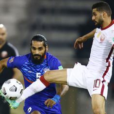 Football World Cup qualifiers: 10-man India go down 1-0 against Asian champions Qatar