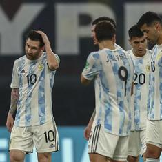 World Cup qualifiers: Lionel Messi on target but Argentina lose top spot after draw against Chile