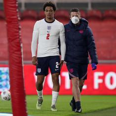 Euro 2020: England's Trent Alexander-Arnold ruled out of competition due to a thigh injury