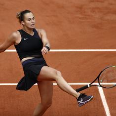 French Open, day 6 women's roundup: Sabalenka knocked out in third round, Serena sails through
