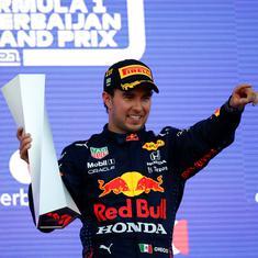 Formula 1: Sergio Perez wins chaotic Azerbaijan GP; no points for Lewis Hamilton, Max Verstappen