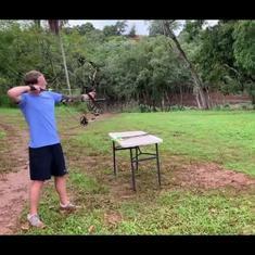Watch: Mark Zuckerberg posts videos of himself shooting arrows, throwing spears