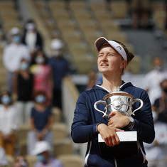 French Open: Krejcikova downs Pavlyuchenkova to win first singles Grand Slam title