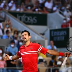 French Open: Novak Djokovic completes sensational fightback from two sets down to win 19th Major