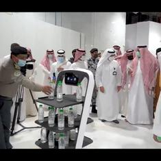 Watch: Robots serve holy water from the Zamzam Well in Mecca and Madina