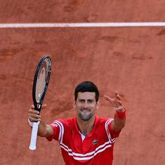 Novak Djokovic leaves a young fan ecstatic by gifting him his French Open final racket