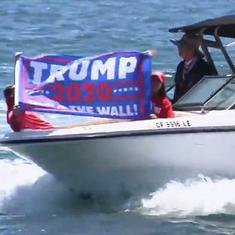 Watch: Trump supporters organise 'Trumparilla' boat parade for former US President's 75th birthday
