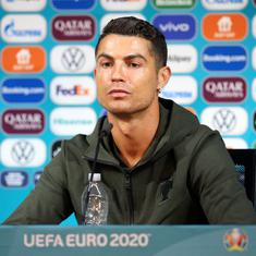 Watch: From Cristiano Ronaldo to Russia's coach –   the 'Bottle Games' at Euro 2020