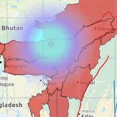 Three mild earthquakes jolt Assam, Manipur and Meghalaya