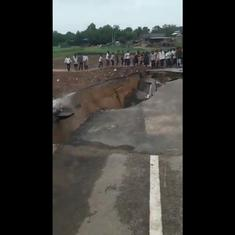 Watch: Portion of bridge connecting over 20 villages in north Gujarat collapses after heavy rain